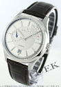 Zenith elite Captain power reserve with crocodile leather dark brown / silver mens 03.2120.685/02.C498