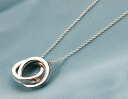Xmas sale ★ Tiffany TIFFANY&CO. Interlocking grip circle sterling silver necklace 22992139
