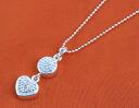 Folli follie FOLLIFOLLIE Crystal round & Heart Necklace silver 3N0F036C