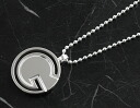 Gucci GUCCI G round sterling silver necklace silver 190577J84008106