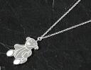 Gucci GUCCI teddy bear motif necklace sterling silver 258862