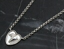 Christmas sale ★ Gucci by GUCCI flora heart Sterling Silver (shiny black finish) necklace silver 341954 J8400 0701