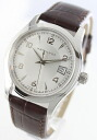 Hamilton jazzmaster Leather Brown / silver mens H18451555