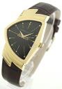 Hamilton Ventura 1 P diamond leather dark brown/GA/GP dark gray mens H24421521