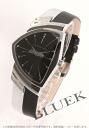 Hamilton Ventura Elvis leather black & silver/black men's H24481731