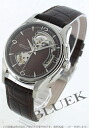 Rakuten Japan sale ★ Hamilton jazzmaster viewmatic open heart leather dark brown men's H32565595