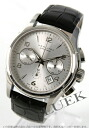 Hamilton jazz master automatic chronograph leather black / silver men H32656753
