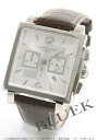 Hamilton jazz master square automatic chronograph leather brown / white & silver men H32666555
