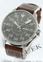 Hamilton Khaki pilot automatic Leather Brown / grey mens H64715885