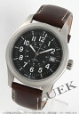 Hamilton Khaki mechanical officer hand-rolled leather dark brown / black men's H69519533