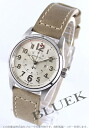 Hamilton Khaki field officer automatic leather beige / skylinegt ladies H70365983