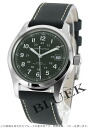 Hamilton Khaki field automatic leather khaki mens H70455863