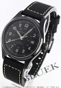Hamilton Khaki field automatic leather black mens H70585733