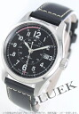 Hamilton Khaki field automatic leather black mens H70595733