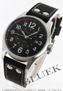 Hamilton Khaki field officer automatic leather black mens H70615733