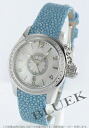 Hamilton khaki sea queen diamond bezel Galusha leather light blue / white shell Lady's H77211615