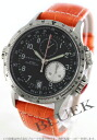 Hamilton Khaki ETO chronograph leather orange/black & silver men's H77612933