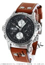Hamilton Khaki X wind automatic chronograph leather brown / black mens H77616533