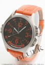 Hamilton khaki GMT air race automatic world thyme black co-leather orange / black men H77665973