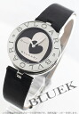 BVLGARI B zero one leather black & silver Lady's BZ30BHSL-M