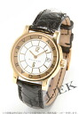 BVLGARI solo tempo YG pure gold leather black / white Lady's ST29WGLD