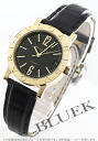 Xmas sale ★ BVLGARI BVLGARI YG pure gold automatic alligator leather black men BB33BGLDAUTO
