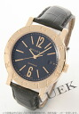 BVLGARI BVLGARI YG pure gold automatic alligator leather black men BB38BGLD fs04gm