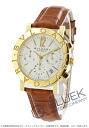 BVLGARI BVLGARI YG pure gold automatic chronograph alligator leather brown / silver BB38WGLDCH