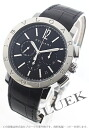BVLGARI BVLGARI automatic chronograph alligator leather black men BB41BSLDCH
