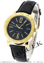 BVLGARI BVLGARI YG pure gold automatic alligator leather black large BB42BGLD