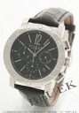 BVLGARI BVLGARI automatic chronograph alligator leather black men BB42BSLDCH