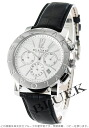 ブルガリブルガリ automatic chronograph with crocodile leather black / white men's BB42WSLDCH