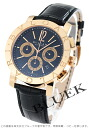 BVLGARI BVLGARI PG pure gold automatic chronograph alligator leather black men BBP42BPGLDCH