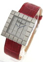 Rakuten Japan sale ★ Chopard ice cube, WG, pure gold alligator leather red / 7424 diamond ladies 12 / 8