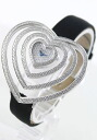Chopard heart WG pure gold diamond サテンレザー black women 13/7172-20