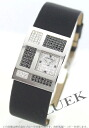 1932 CHANEL collection WG pure gold diamond satin leather black / diamond Lady's H1184
