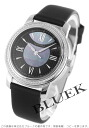 Tiffany mark diamond bezel satin leather black shell Lady's Z0046.17.10B90A40A