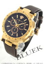 Xmas sale ★ Versace Mystic sports chronograph tachymeter leather RGP brown men VFG060013