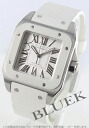 Cartier Santos 100 MM automatic rubber white W20129U2