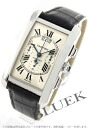 Cartier tank American XL WG pure gold automatic chronograph leather Black / Silver mens W2610651