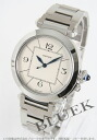 Cartier pasha 42mm automatic silver men W31072M7