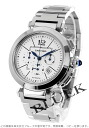 Cartier Pasha 42 mm automatic chronograph silver mens W31085M7