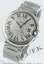 Cartier baron blue MM automatic silver Boys W6920046