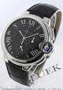 Cartier baron blue LM automatic chronograph alligator leather black / dark gray men W6920052