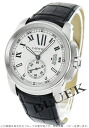 Cartier Cali bulldog do Cartier automatic leather black / silver men W7100037