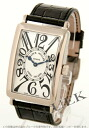Franck Muller Long Island WG Wilsdorf crocodile leather Black / Silver mens 1002 QZ