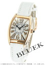 Franck Muller tenor curvex ensemble relief PG pure gold crocodile leather white / silver ladies 1752 QZ REL V-R watch clock