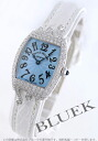 2250 Frank Muller high jewelry pop WG pure gold black co-leather white / light blue Lady's QZ HJ