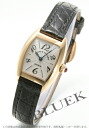 2500 Frank Muller Petit rolling by hand leather black /YG silver back skeleton Lady's MC