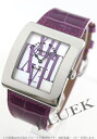 Franck Muller Infiniti arrange enamel leather purple / white shell ladies 3735 QZ R AL